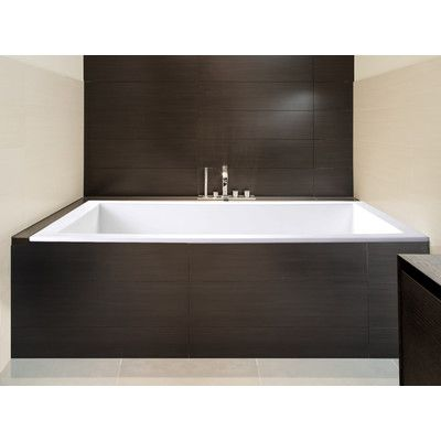 Features:  -Sparta collection.  -Material: Acrylic.  -Design: Modern and clean.  Country of Manufacture: -United States.  Finish: -White.  Material: -Acrylic.  Bath Therapy Type: -Whirlpool.  Tub Styl
