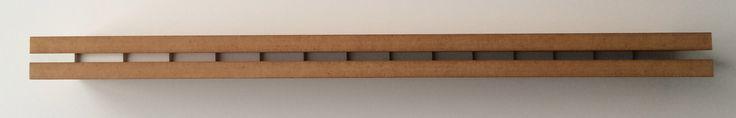SHADOW GAP, 1992, MDF, varnish and acrylic paint, 4.5 x 70 x 11 cm
