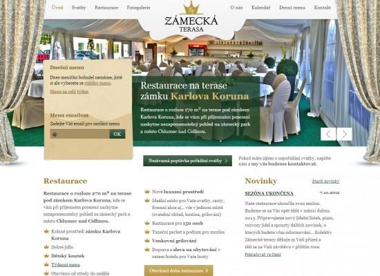 Webové stránky restaurace Zámecká terasa