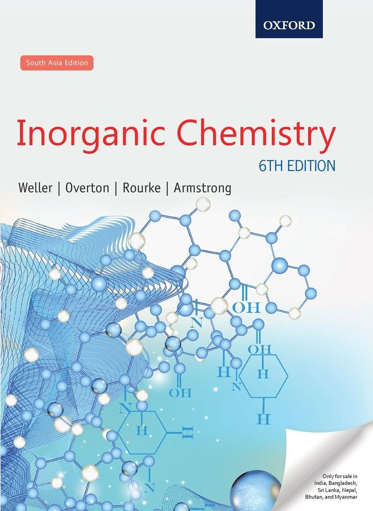 Check out our New Product  Inorganic Chemistry, Sixth Edition COD  AUTHOR:  Mark Weller, Fraser Armstrong, Jonathan Rourke and Tina OvertonPublication date: 06.08.2015  Rs.705