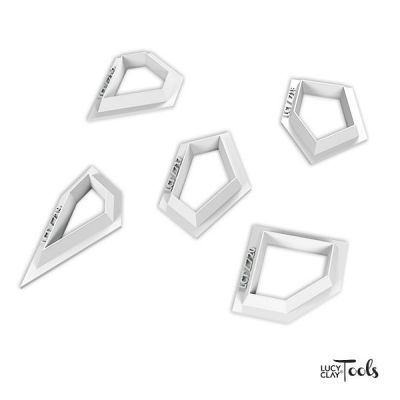LC Cutters Polygons set 4 (16-20) | Order at LC Store EU http://www.lucyclaystore.com/en/lc-cutters/275-lc-cutters.html LC Store USA http://www.lucyclaystore.com/usa/lc-cutters/275-lc-cutters.html | Inspiration http://issuu.com/lctools/docs/cutters-pentagons