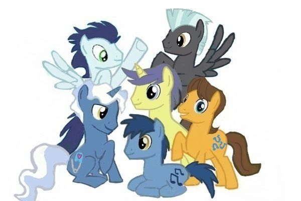 Boy Mlp Hairstyles: My Little Colt Group Pic. By