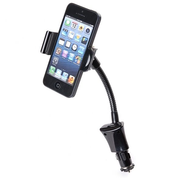 100% Brand New.  2 in 1 Car Charging + Mount holder  Support most smart phones  Output current: DC5V, 1.5A  High quality plastic material, non-slip feet to keep your mobiles in holder steadily.  Width: approx. 5.8cm to 8.5cm  Flexible 360 degree rotating head for convenient viewing and access.  Color: black, and more details are shown in pictures.  Included Micro USB cable  Accessory ONLY!  Package Included:  1 x Cigarette lighter adapter charger  1 x Mount holder  1 x USB cable  Note: Due…