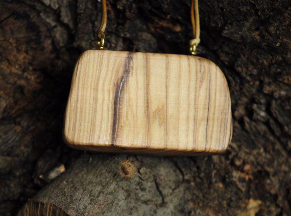 Olive Wood Necklace Unique Handmade Pendant Olive by MavouShop