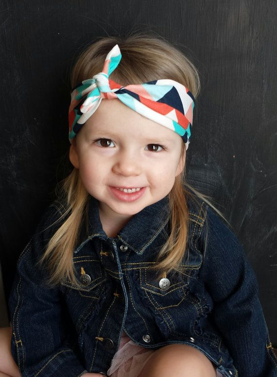 multicolored triangle chevron knot headband. buy one give one to a child with cancer! $9.99