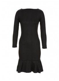 Flute dress Black
