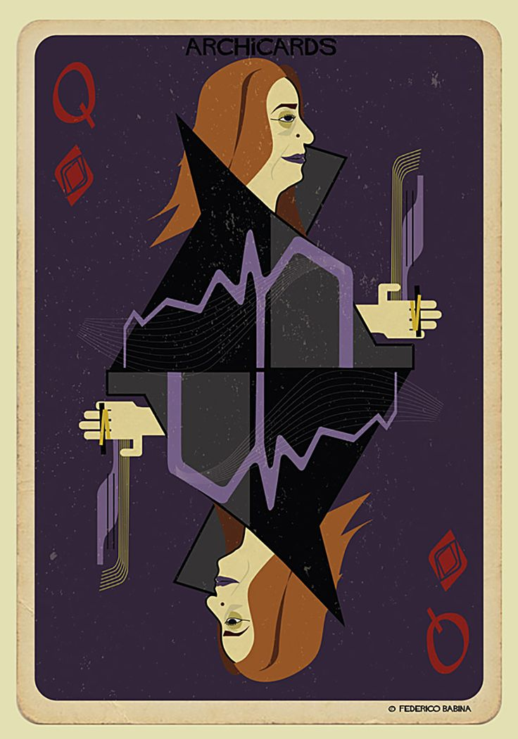 the italian illustrator has turned the portraits of famous figures from the creative community into the faces of playing cards.