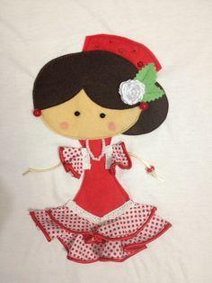 dibujos de muñecas vestidas de flamenca - Buscar con Google