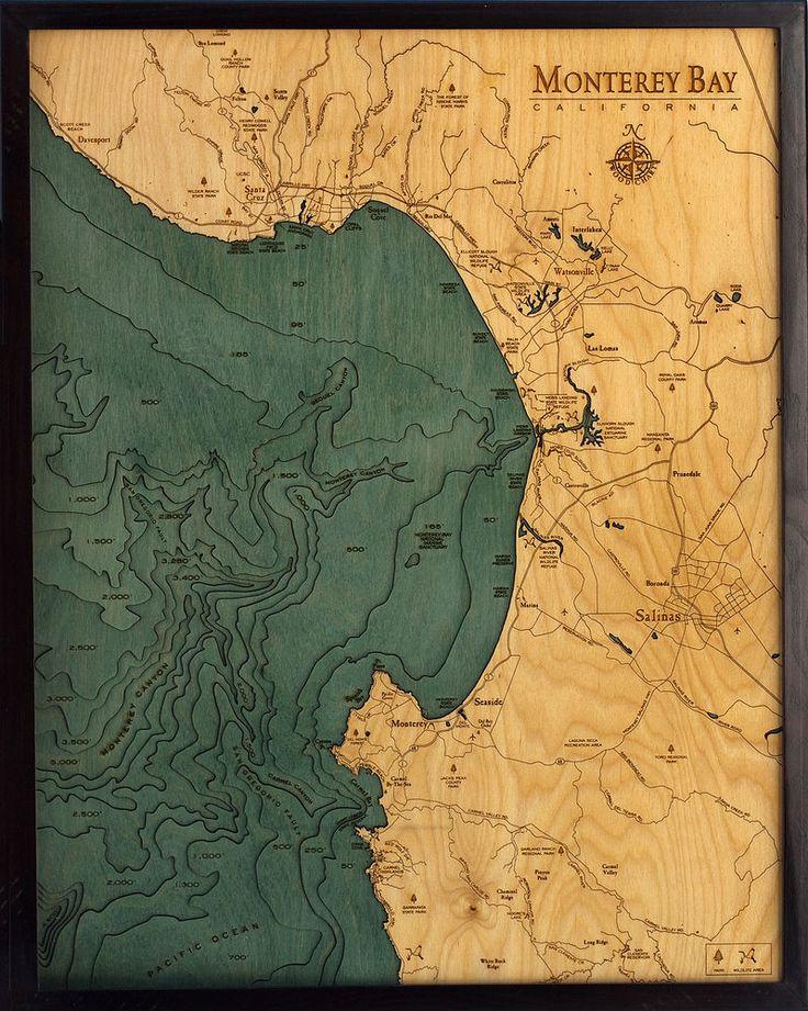Maryland Map Coordinates%0A MONTEREY BAY  CA        x      New  LaserCut