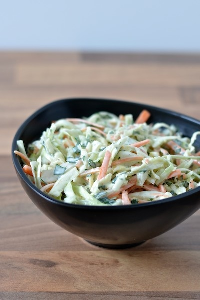 Coleslaw with fennel and parsley