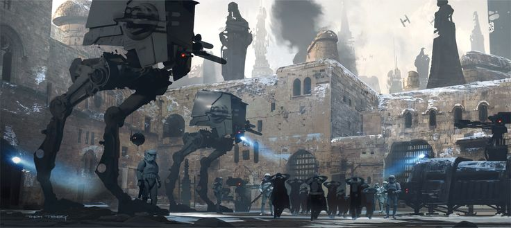 An Exclusive Look Inside the Gorgeous Art of Rogue One: Jedha POW Camp Version 2C/Tenery. The Art of Rogue One: A Star Wars Story by Josh Kushins, and Lucasfilm Ltd. © Abrams Books, 2016(C) 2016 Lucasfilm Ltd. And TM. All Rights Reserved. Used Under Authorization