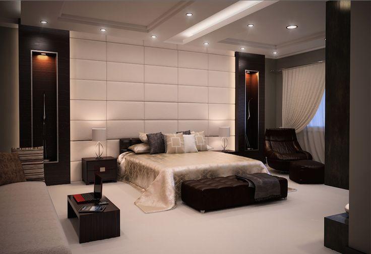 Hálószoba dekoratív falpanelekkel