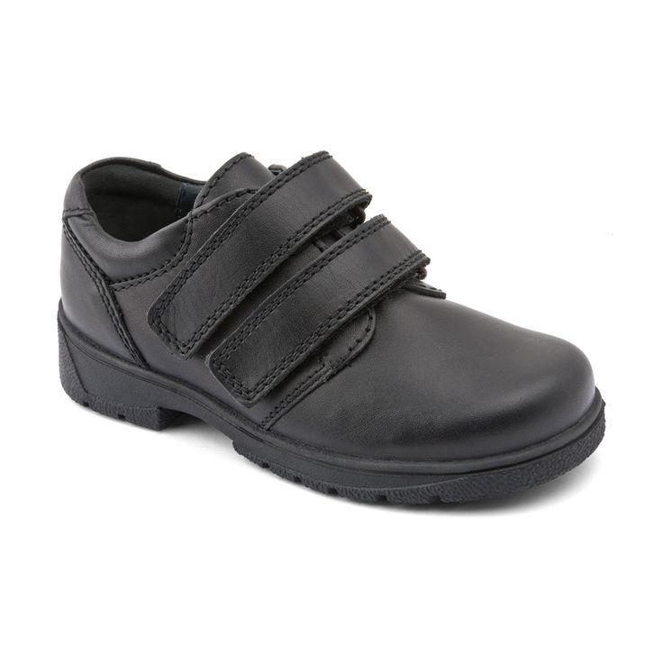 Rotate - Black Leather - these durable Start-rite boys school shoes are leather lined, light-weight and flexible, and have a twin rip-tape fastening.