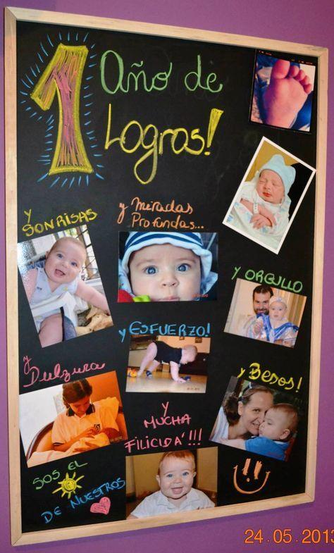 Primer cumple de mi hijo, sus fotos fueron la estrella... Este pizarrón, es el que nos acompaña y nos mima... una idea genial para ir renovando mensajes para los integrantes de la familia!