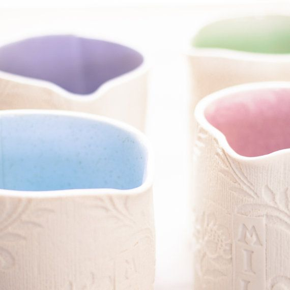 Porcelain Printed MILK Jug by PennySpoonerCeramics on Etsy, $36.00