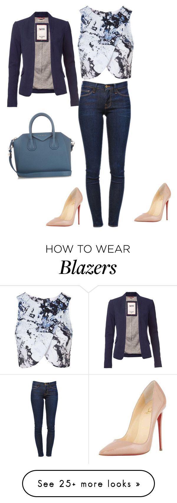 """""""Untitled #535"""" by martinmel-mlm on Polyvore featuring Topshop, Tommy Hilfiger, Frame Denim, Christian Louboutin, Givenchy, women's clothing, women, female, woman and misses"""