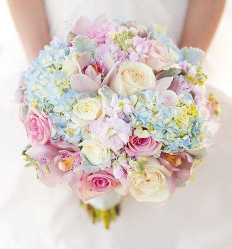 Forårsbryllup brudebuket