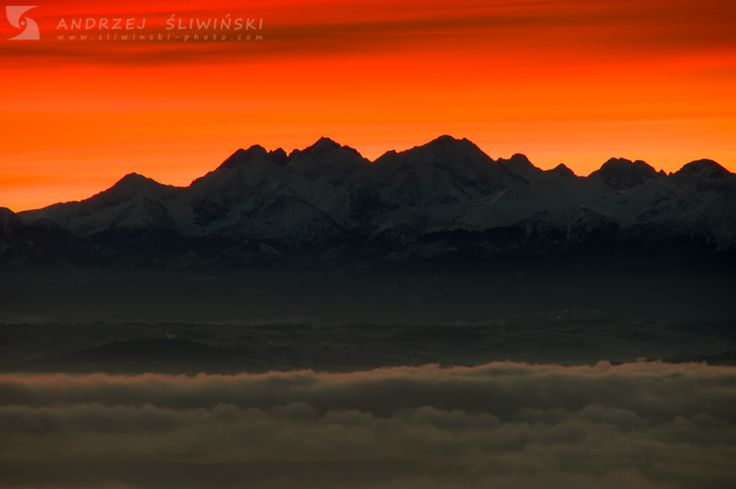 Tatra Mountains at sunrise.