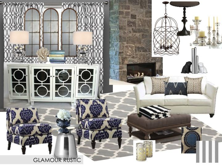 The lifestyled company mood board mondays hollywood for Hollywood glam living room ideas
