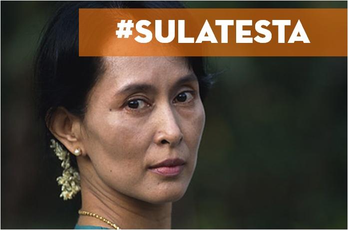 """""""L'autentica rivoluzione è quella dello spirito, nata dalla convinzione intellettuale della necessità di cambiamento degli atteggiamenti mentali e dei valori che modellano il corso dello sviluppo di una nazione.     Una rivoluzione finalizzata semplicemente a trasformare le politiche e le istituzioni ufficiali per migliorare le condizioni materiali ha poche probabilità di successo.""""  [TRIBUTO A: Aung San Suu Kyi] @ricominciadate #sulatesta"""