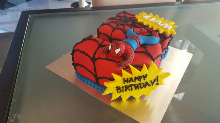 Spiderman 5th birthday cake #1