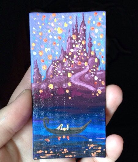Disney Tangled Painting  Lights by SavannaRodriguez on Etsy