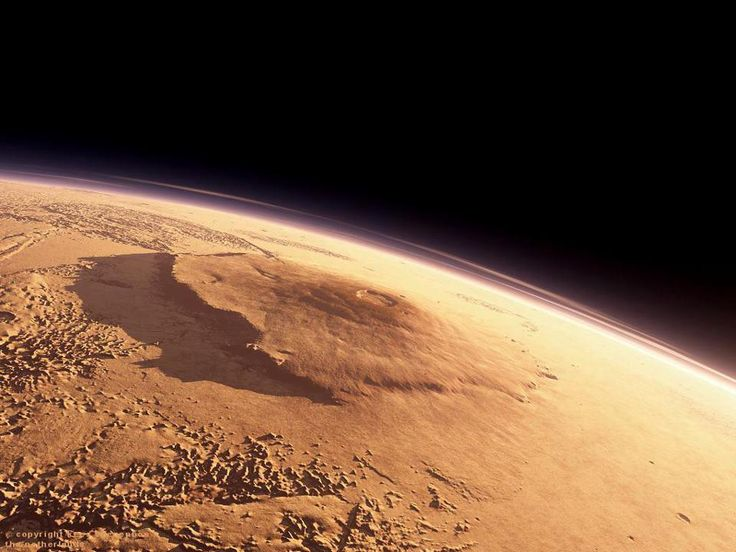 Mars Olympus Mons, The Tallest Mountain in our Solars System, as Seen From Orbit
