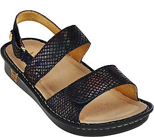 Alegria Leather Sandals with Adj. Straps - Verona