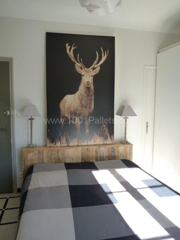 P1090983 600x800 Tête de lit en bois de palette Pallet wood headboard