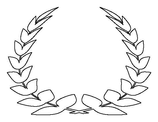 Laurel Leaf Crown Pattern. Use The Printable Outline For