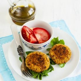 White Bean Burgers with Basil and Sun-dried Tomato (in Polish)   Beans ...
