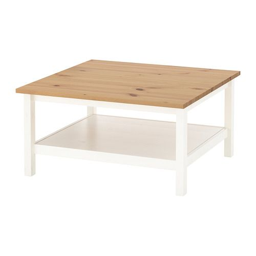 Hemnes Coffee Table Black Brown 90x90 Cm: Coffee Table HEMNES White Stain, Light Brown