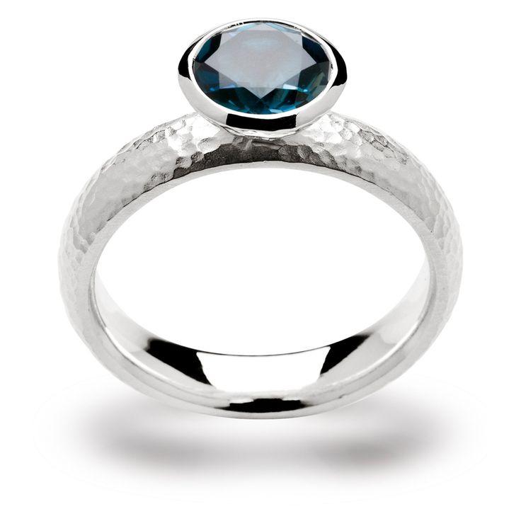 bastian inverun - #Ring - sterling silber 925 - blauer topas - #blau
