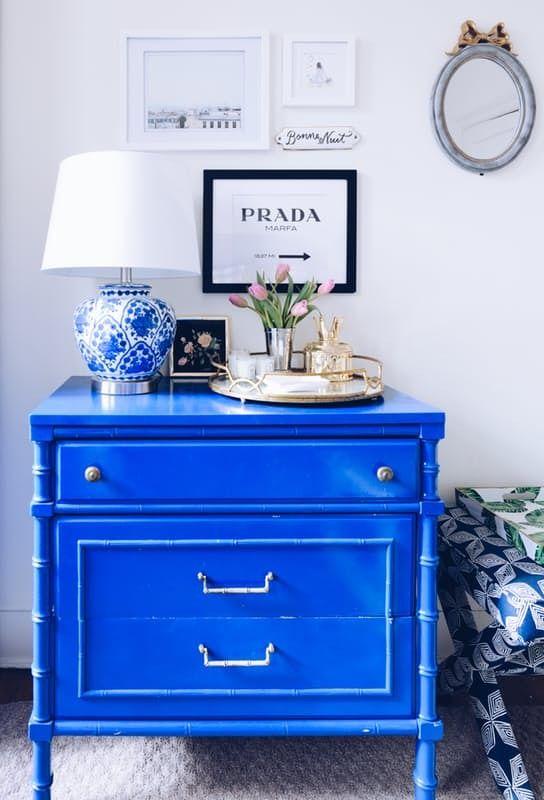 25 best ideas about Blue Nightstands on Pinterest
