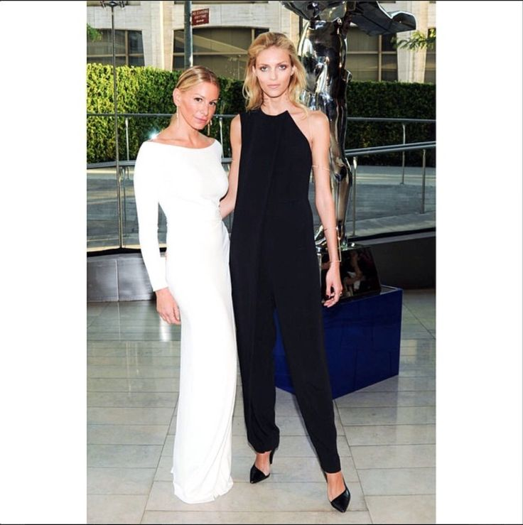 Jennifer Fisher and Anja Rubik at the 2014 CFDA Awards