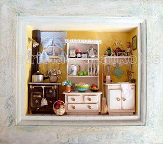 Patricia Cruzat Artesania y Color: Cocinas con Miniaturas