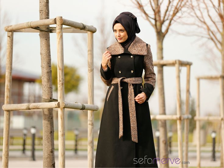Tesettür Kaban FY 72385-02 Kahverengi #tesetturgiyim #tesettur #sefamerve #hijab