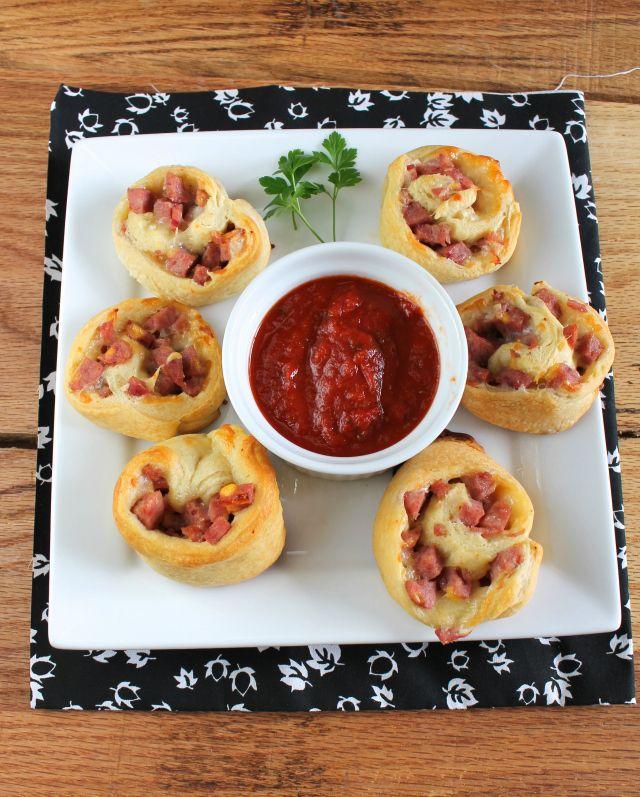 sausage pinwheels Spicy Sausage Pinwheels & Holiday Entertaining with Petit Jean Meats