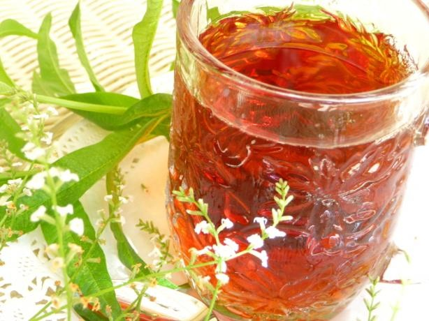 ... (Blackcurrant) and Lemon Verbena Tea - Tisane - Infusion   Rec