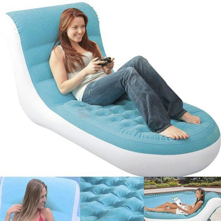 Sectional Sofa Intex Inflatable Splash Lounge Flocking Single Sofa Bed Air Chair Pool