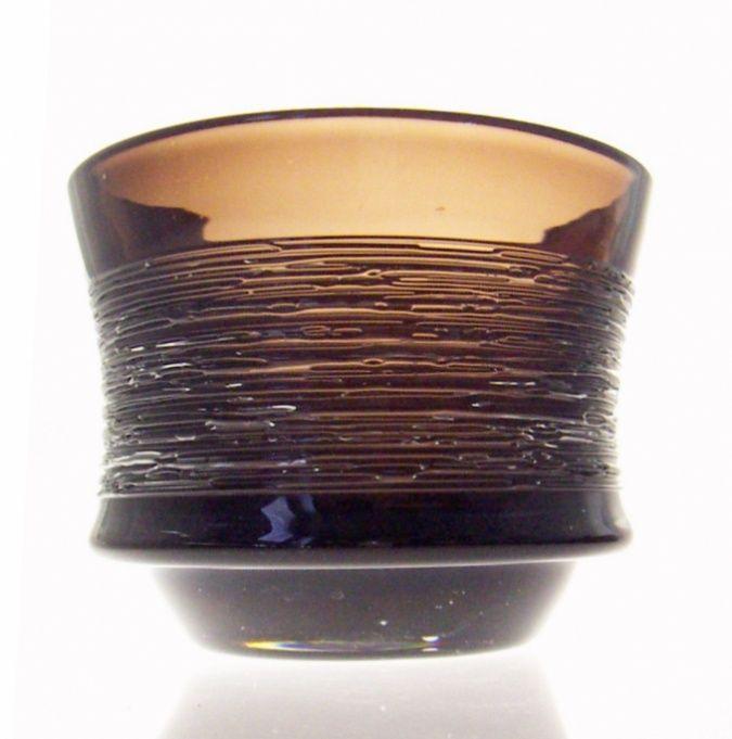 Swedish 1950s Spun glass bowl - Edenfalk for Skruf