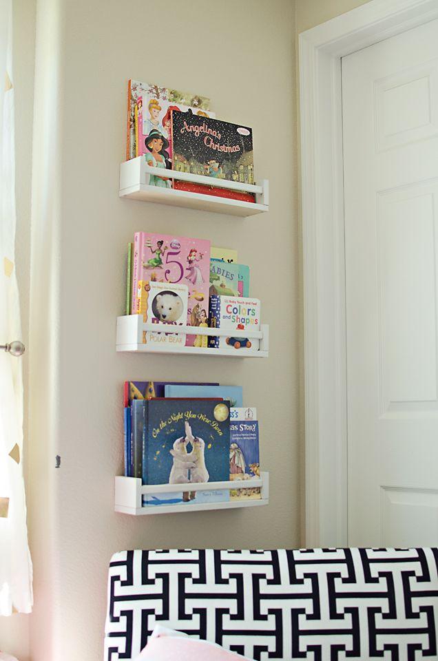IKEA Spice Racks Turned Bookshelves