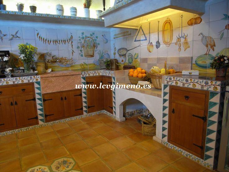 17 best images about decoraci n de la casa tradicional for Cocina valenciana