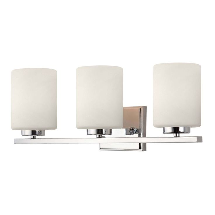 Dolan Designs Lighting Modern Bathroom Light With Three Lights And Cylinder  Glass Shades 3883 26