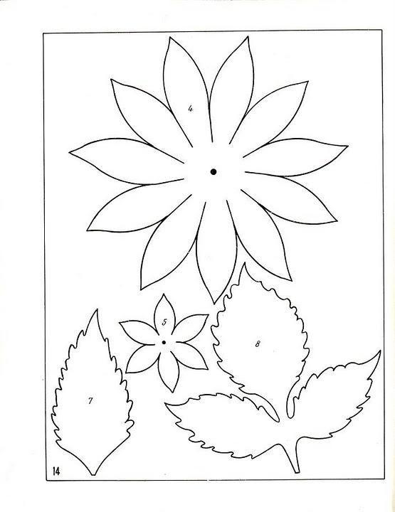 Раскраски Цветы шаблоны для вырезания аппликация цветка в детском саду шаблоны