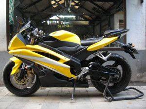 Modifikasi Yamaha Vixion kuning