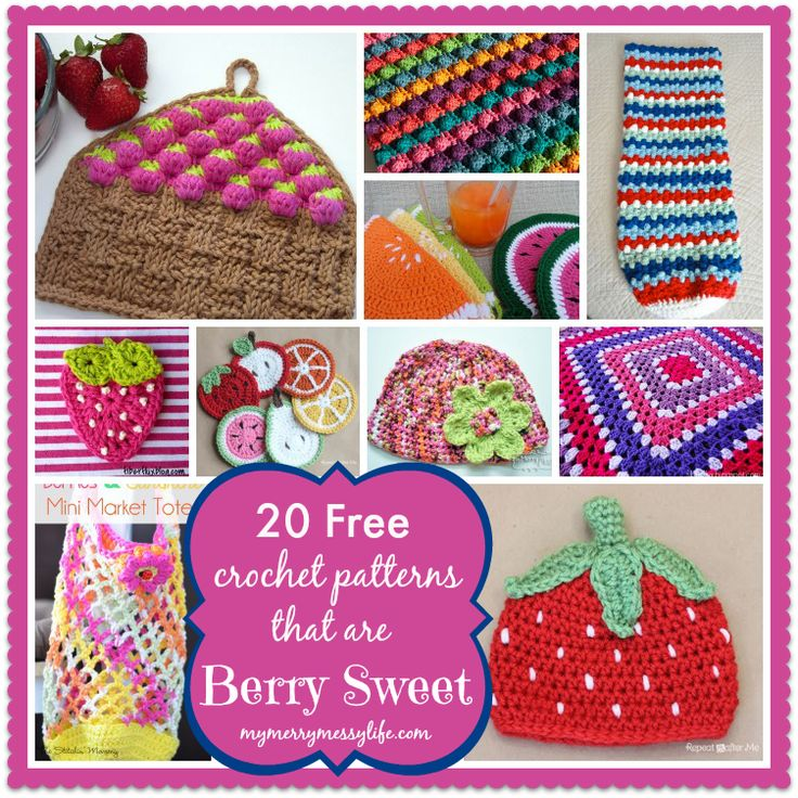 20 Free Crochet Patterns Inspired By Berries, Summertime and Citrus Fruits...love the cute coasters!
