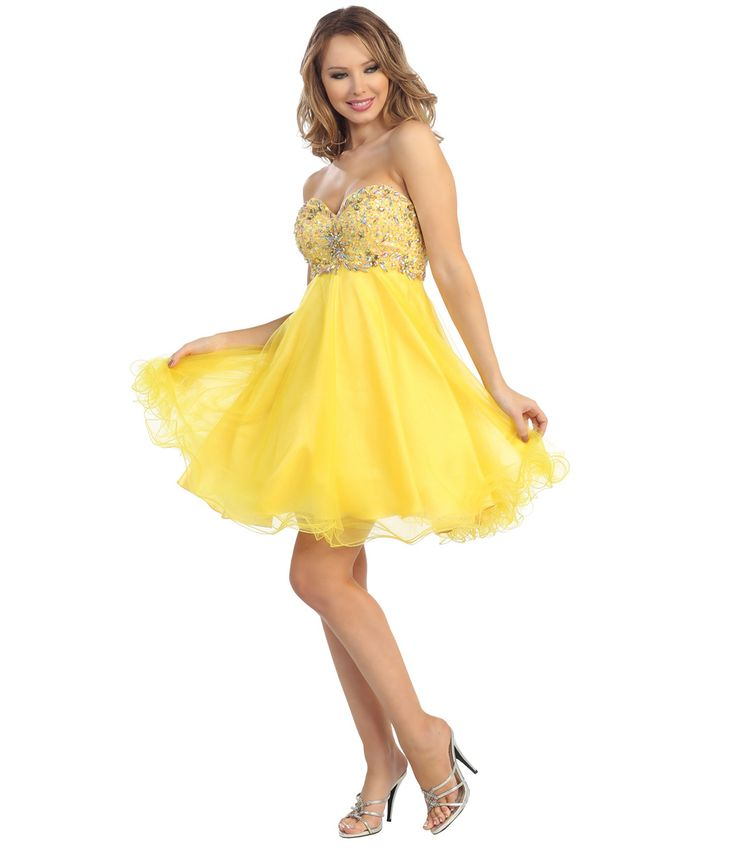 yellow short dresses - Google Search