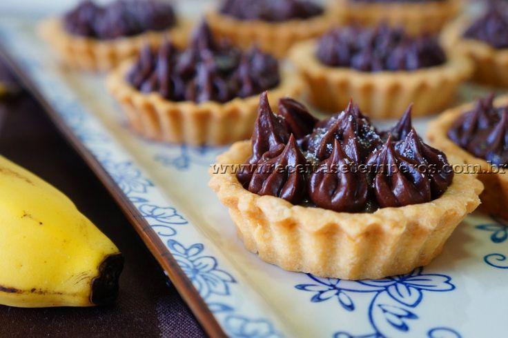 Tortinha de banana com chocolate   Receitas e Temperos