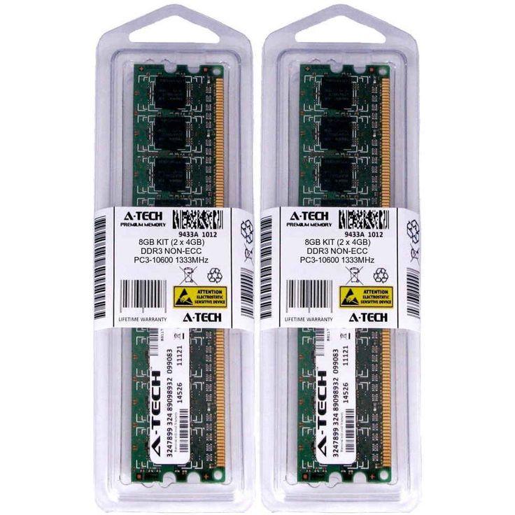 Atech 8GB Kit Lot 2x 4GB DIMM DDR3 Desktop 10600 1333MHz 1333 240pin Ram Memory #ATECH